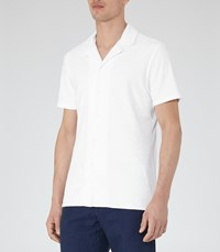 Reiss Turin Mens Terry Towelling Shirt In White