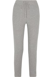 Skin Waffle Knit Cotton Blend Track Pants Gray
