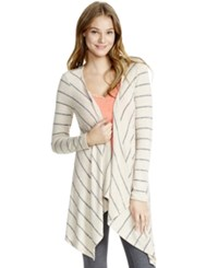 Jessica Simpson Striped Nursing Cardigan Tan Black