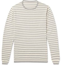 Anderson And Sheppard Striped Cotton Sweater Gray