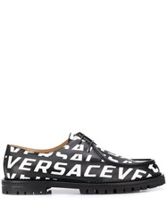 Versace All Over Logo Shoes Black