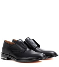 Givenchy Backless D Chain Leather Derby Shoes Black