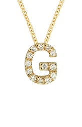 Bony Levy Women's Pave Diamond Initial Pendant Necklace Nordstrom Exclusive Yellow Gold G