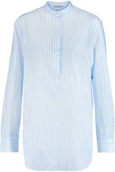 Acne Studios Galvin Striped Cotton Shirt White
