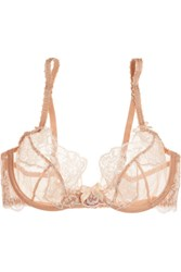 Agent Provocateur L'agent By Angelica Lace And Stretch Tulle Underwired Bra Blush
