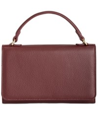 Giani Bernini Softy Leather Smartphone Wallet Crossbody Only At Macy's Oxblood