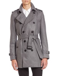 Burberry Kensington Grey Cashmere Trench Coat