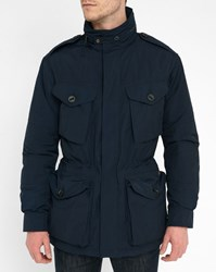 Polo Ralph Lauren Navy Quilted Patch Pockets Parka Blue