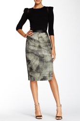 Stella And Jamie Erebus Long Leather Skirt Gray
