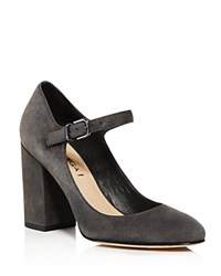 Via Spiga Deanna Mary Jane Block Heel Pumps Gray