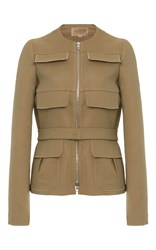 Giambattista Valli Flap Pocket Jacket Tan