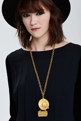 Nasty Gal Vintage Chanel 2.55 Charm Necklace