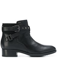 Geox Ankle Strap Boots Black