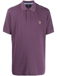 Paul Smith Ps Embroidered Logo Polo Shirt Purple