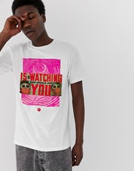 Fairplay Watching T Shirt With Chest Print In White