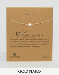 Dogeared Gold Filled Pearls Of Friendship Bracelets Gold White