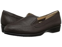 Hush Puppies Jennah Paradise Dark Brown Leather Women's Slip On Dress Shoes