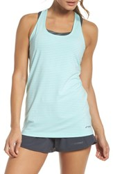 Brooks 'S 'Go To' Racerback Tank Pool White Stripe