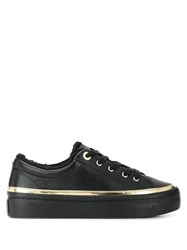 Tommy Hilfiger Metallic Detail Lace Up Sneakers Black