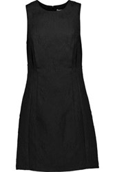 3.1 Phillip Lim Silk Trimmed Brocade Mini Dress Black