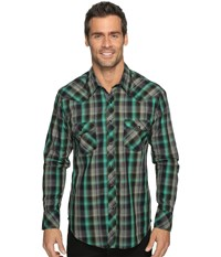 Rock And Roll Cowboy Long Sleeve Snap B2s9065 Green Men's Long Sleeve Button Up