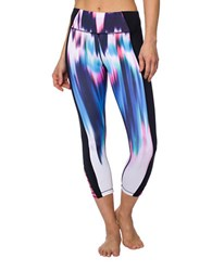 Betsey Johnson Printed Cropped Bodycon Fit Leggings Multicolor