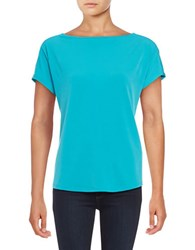 Michael Michael Kors Chain Accented Jersey Knit Top Green