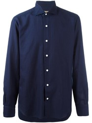Barba Tonal Stripe Shirt Blue