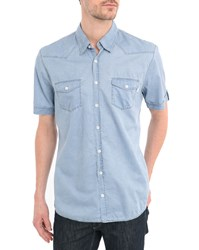 Harris Wilson Univers Cloud Shirt With Topstitched Sleeves
