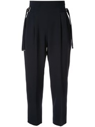 Loveless Paper Bag Trousers Black