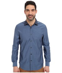 Perry Ellis Irridescent Solid Twill Shirt Eclipse Men's Long Sleeve Button Up Olive