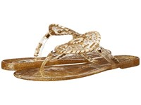 Jack Rogers Sparkle Georgica Jelly Gold Women's Sandals