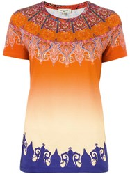Etro Marrakech Print T Shirt Yellow Orange