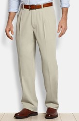 Tommy Bahama Men's Big And Tall 'New St. Thomas' Flat Front Silk And Cotton Pants