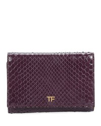 Tom Ford Python Flap Line Wallet Wine
