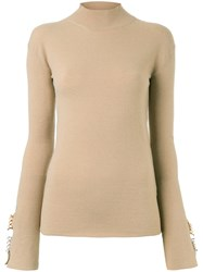 Ellery Classic Turtleneck Sweater Polyamide Polyester Wool M Brown