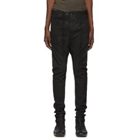 Boris Bidjan Saberi Black Vinyl Coated Jeans