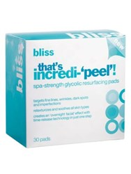 Bliss That's Incredi 'Peel' Spa Strength Glycolic Resurfacing Pads No Color