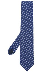 Gucci Double G Dot Pattern Tie Blue