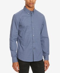 Kenneth Cole Reaction Men's Slim Fit Geometric Long Sleeve Shirt Dusty Lilac Combo