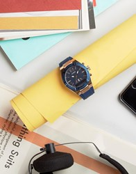 Guess Connect C0002m1 Leather Smart Watch 41Mm Blue