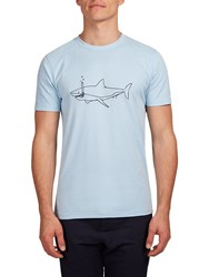 Hymn Fishtronaut Shark Graphic T Shirt Blue