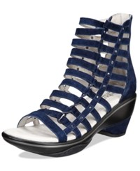 Jambu Women's Brookline Wedge Sandals Women's Shoes Navy Solid