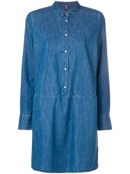 Tommy Jeans Button Denim Dress Blue