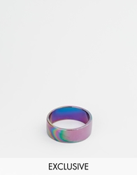 Designsix Oilslick Ring Exclusive To Asos Blue