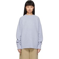 Tibi Blue Airy Alpaca Sweater
