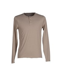 Alpha Studio Topwear T Shirts Men Khaki