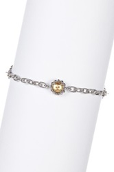 Phillip Gavriel 18K Yellow Gold And Sterling Silver Amethyst Accented Bracelet Metallic