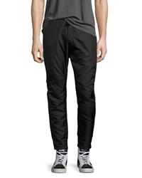Public School Villa Mixed Media Jogger Pants Black