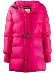 Kenzo Belted Puffer Jacket Pink